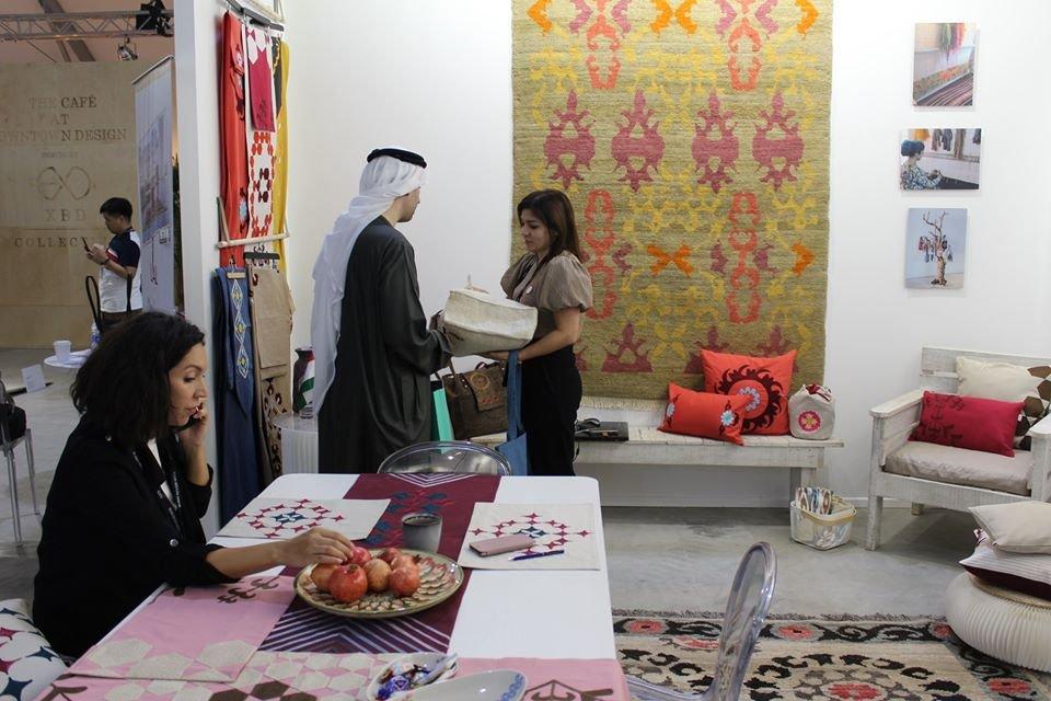 Таджикский бренд «LA'AL Textiles» впервые презентовал свою продукцию на Dubai Design Week 2019